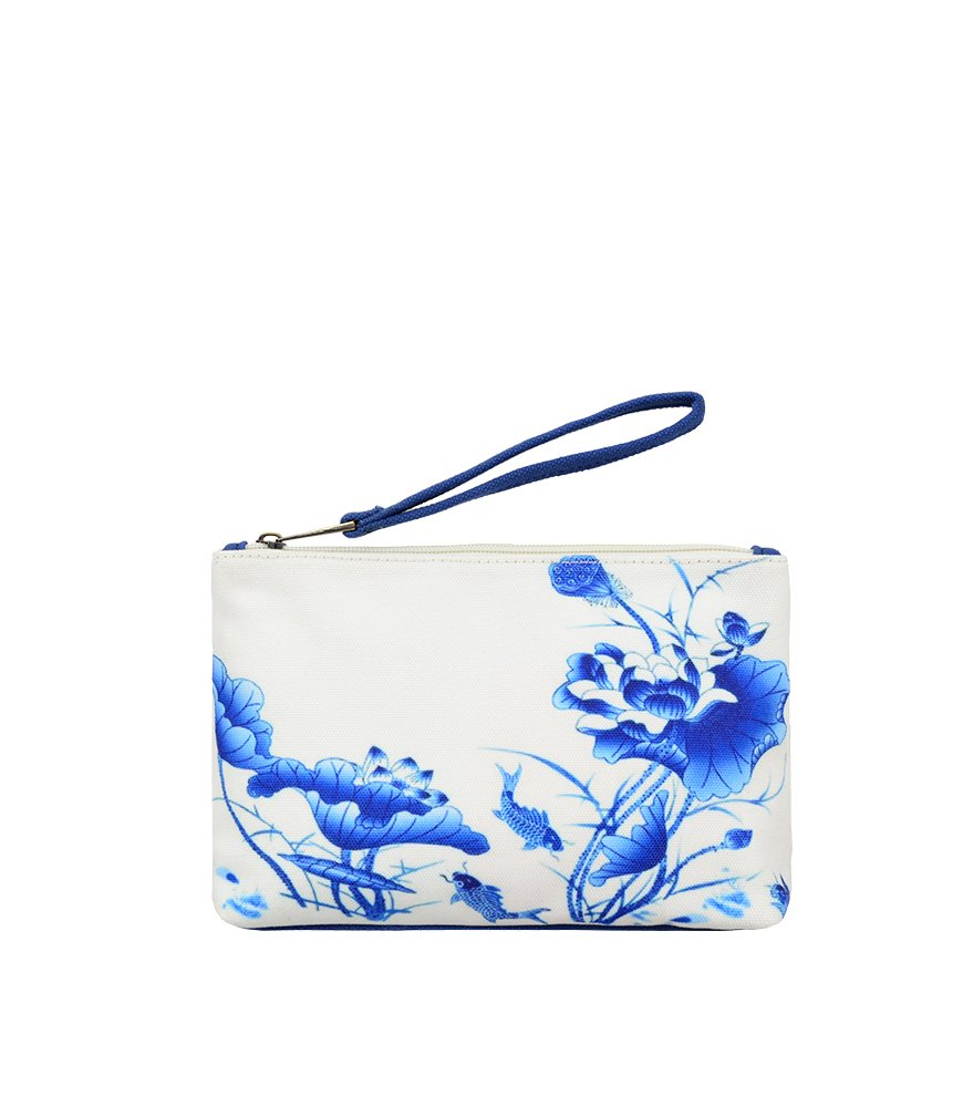Mellow World Women's Scarlett Tb1312, Canvas Wristlet. Water Resistant, Cell Phone Travel Purse, Blue, One Size