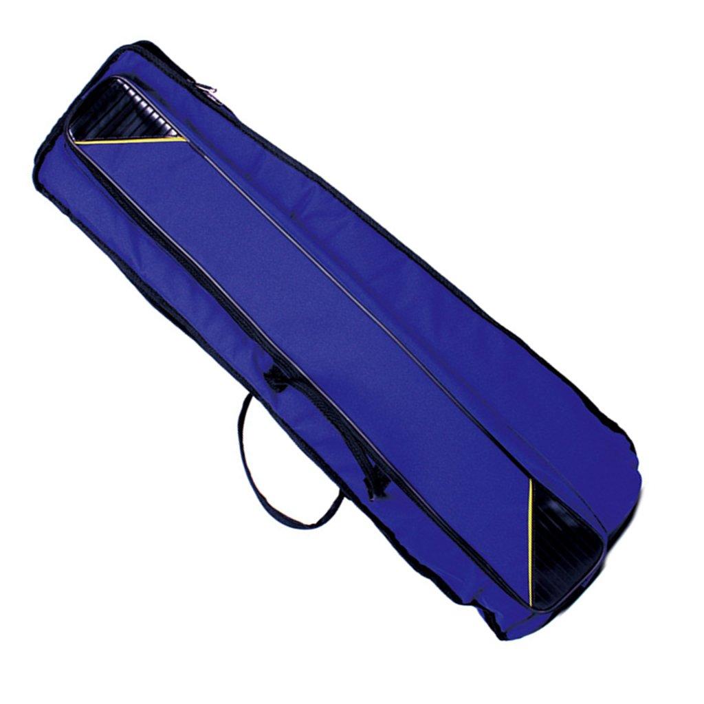 Jili Online Oxford Fabric Shoulder Bag Tenor Trombone Stage Bag for Trombonist Blue by Jili Online (Image #1)