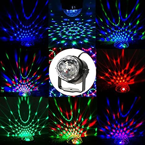 portable party light sound activated disco light ball stage light