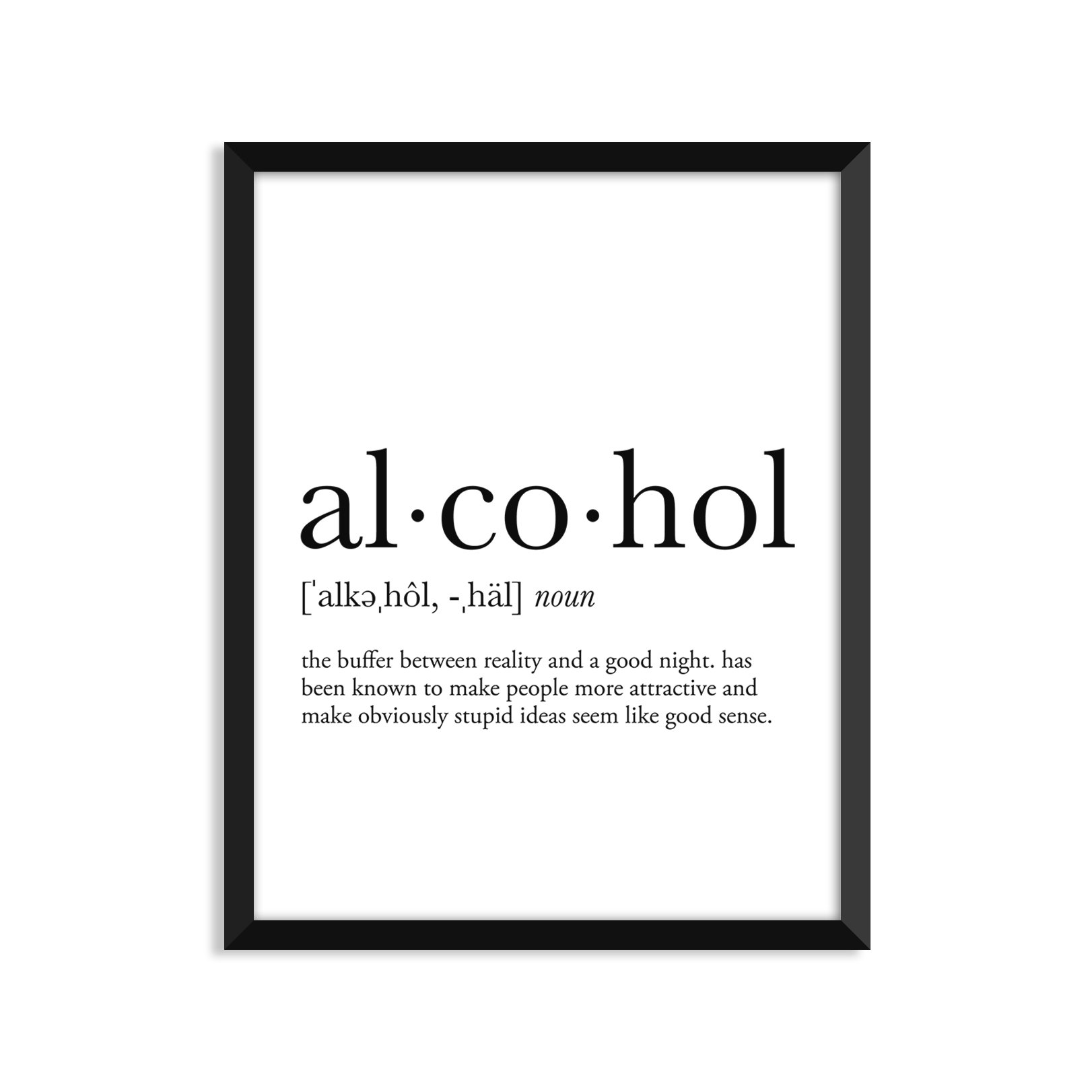 Alcohol Definition - Unframed Art Print Poster Or Greeting Card