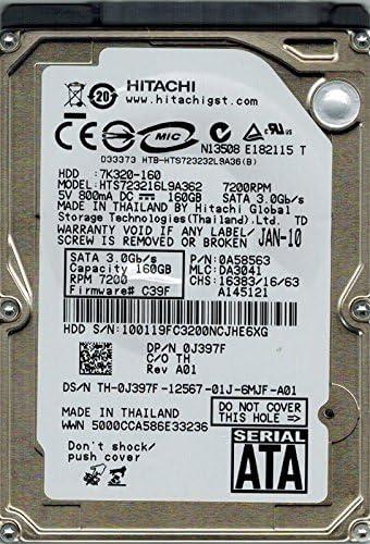 0A58563 MLC Hitachi HTS723216L9A362 P//N DA3041 160GB