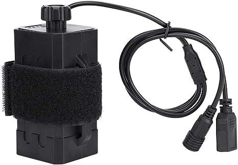 Alomejor 18650 Cubierta de la Caja de la batería a Prueba de Agua Cubierta con DC/USB Doble Interfaz Recargable Ciclismo para Bicicleta Bicicleta lámpara: Amazon.es: Deportes y aire libre