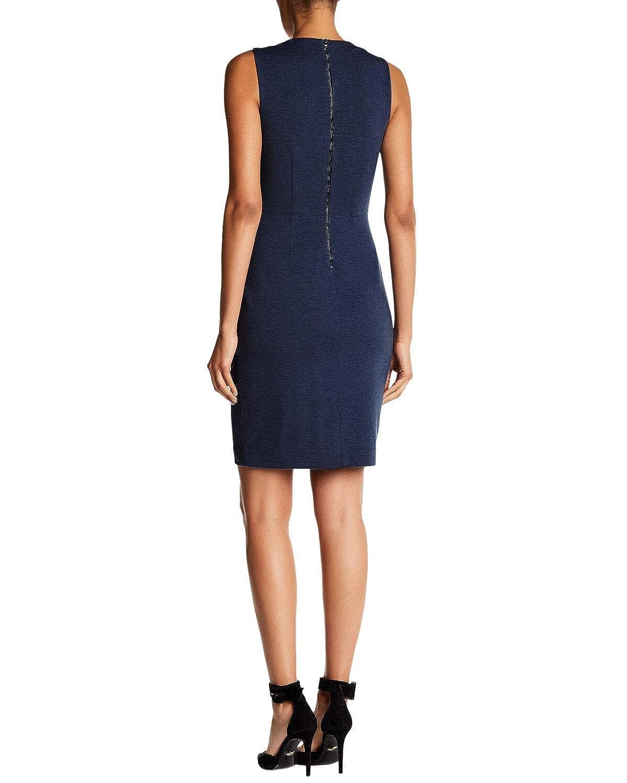 e9cdf560baae Amazon.com: Elie Tahari Women's Audra Sleeveless Split Neckline Dress 4  Navy: Clothing