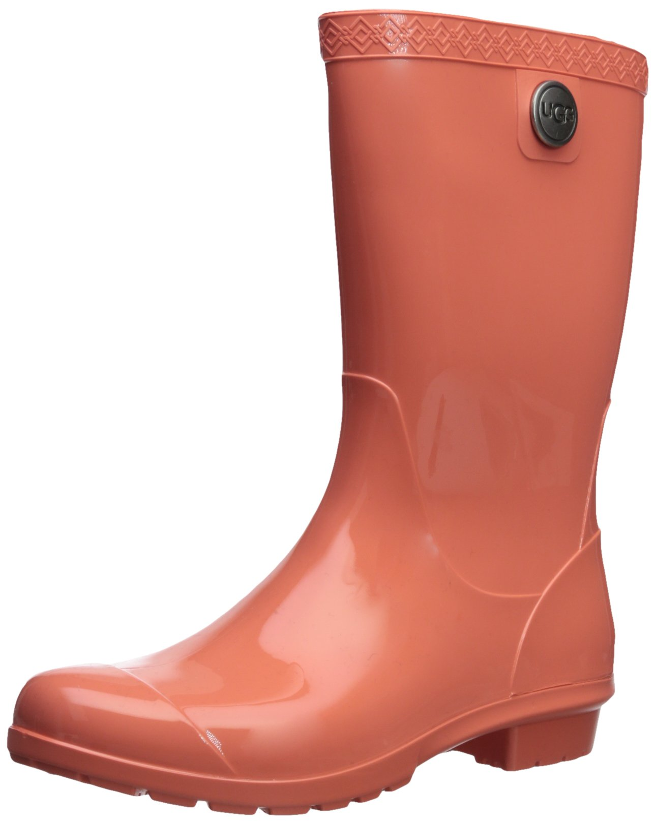 UGG Women's Sienna Rain Boot, Vibrant Coral, 9 M US