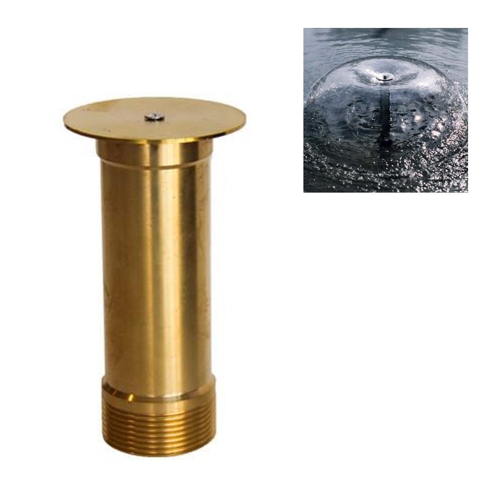 NAVADEAL 2'' DN50 Brass Bell Mushroom Water Fountain Nozzle Spray Pond Sprinkler - for Garden Pond, Amusement Park, Museum, Library