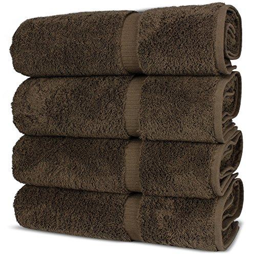 Luxury Premium long-stable Hotel & Spa Turkish Cotton 4-Piece Eco-Friendly Bath Towel Set (Cocoa) by Chakir Turkish Linens (Image #5)