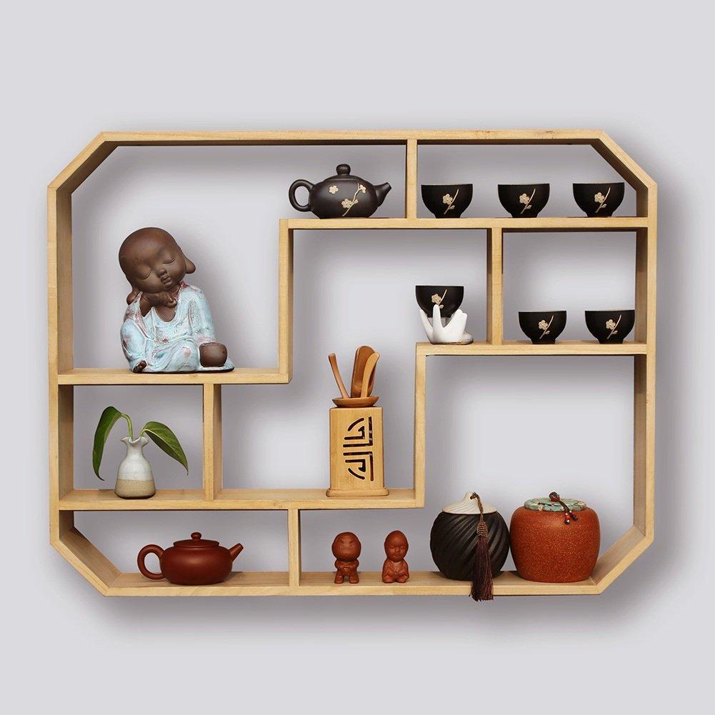 ソリッドウッド単純な格子壁の棚の収納ラック (色 : A, サイズ さいず : 78 * 60 * 16cm) B07H1BGM9G A 78*60*16cm