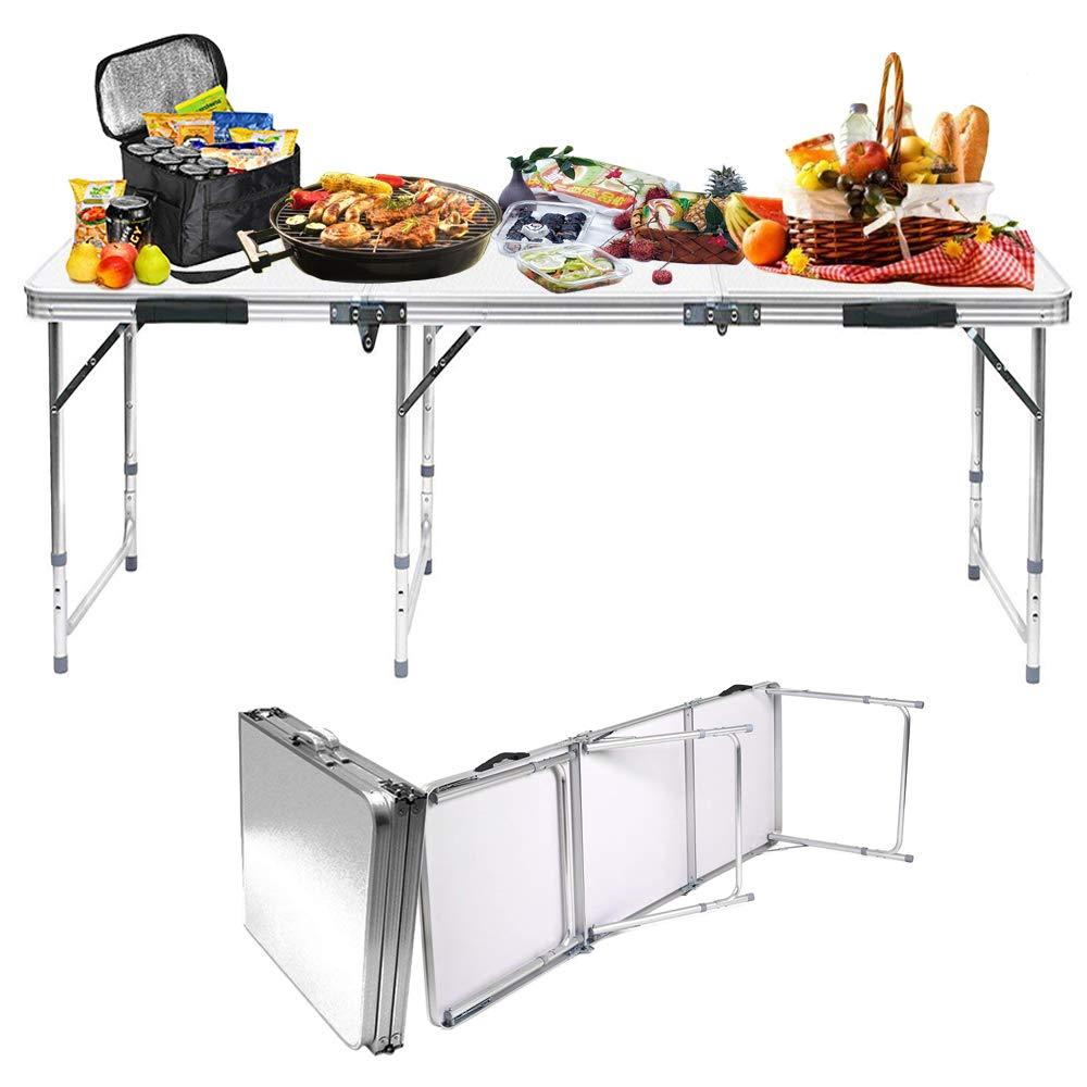 Jason Folding Camping Table Aluminum Lightweight Extra Strength Portable Indoor Outdoor (1.2M/4TF)