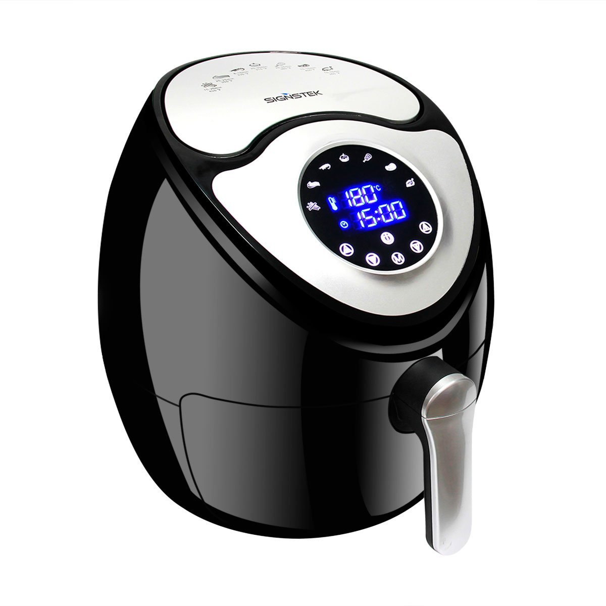 Signstek Large Power Air Fryer with Digital Touch Screen Control for Low Fat Oil Health Food with Timer & Temperature Controls, Comes with Recipes and Oil Brush(5.9QT)