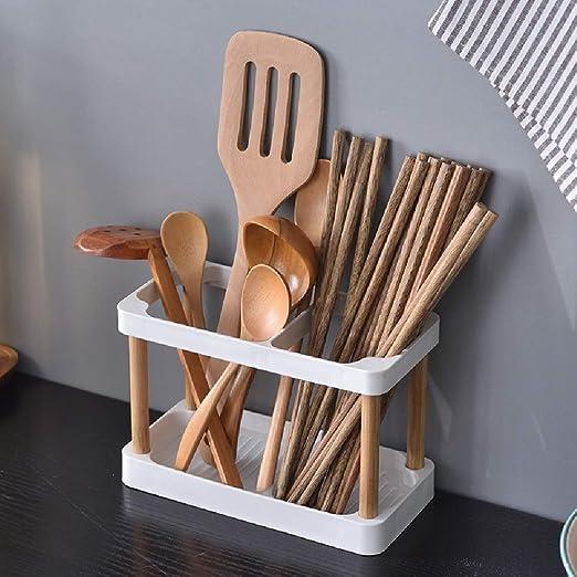 1*Stainless Steel Kitchen Utensil Cutlery Rack Holder Chopsticks Spoon Sink Tool