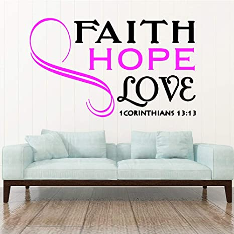 Ajcwhml Style of Faith Espera amar Las Pegatinas de Pared de ...