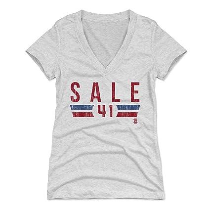 500 LEVEL Chris Sale Women s V-Neck Shirt Small Tri Ash - Boston Baseball  Women s ae4fc12a66