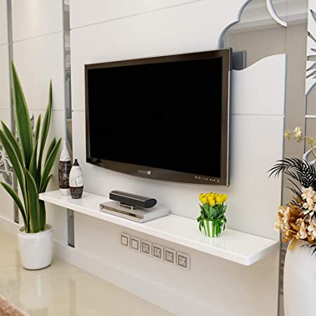 FENG-estante Consola Flotante de TV de Montaje en la Pared Consola de TV por Cable Enrutadores Remotos Reproductores de DVD Consola de Juegos Caja de TV por satélite Accesorios de repisa: Amazon.es: