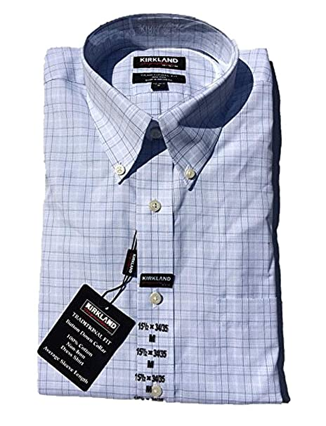 c97bf9f6ebb05 Image Unavailable. Image not available for. Color  Kirkland Signature Men s  Traditional Fit Non-Iron Button Down Collar Dress Shirt ...