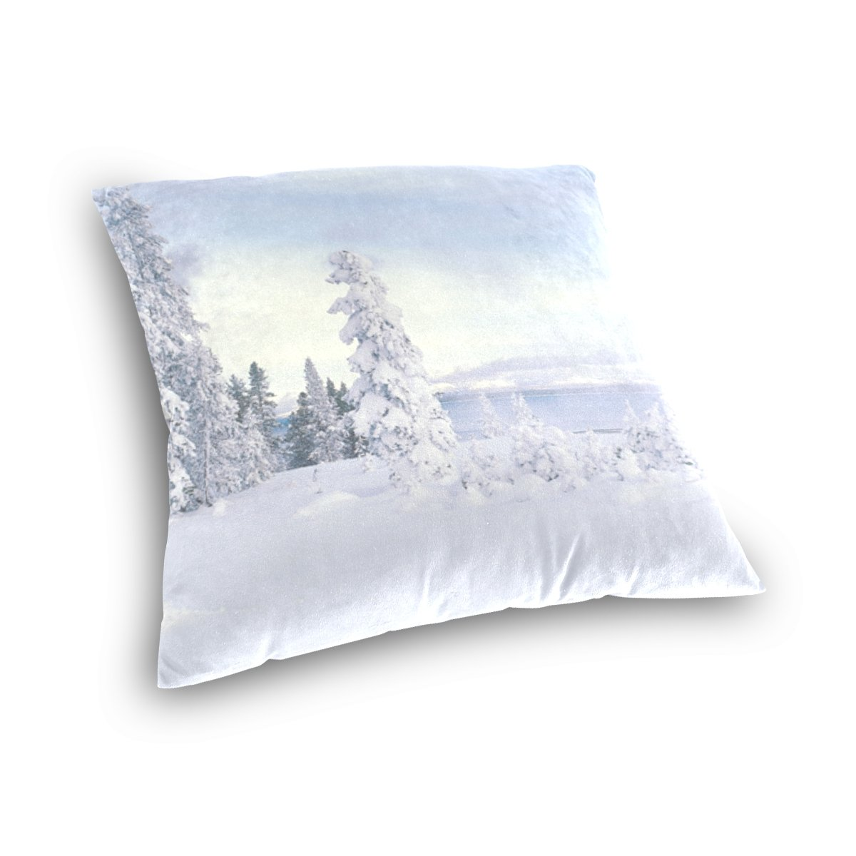 Amazon.com: XIMSTAR White Snowing Printing Cotton Velvet ...