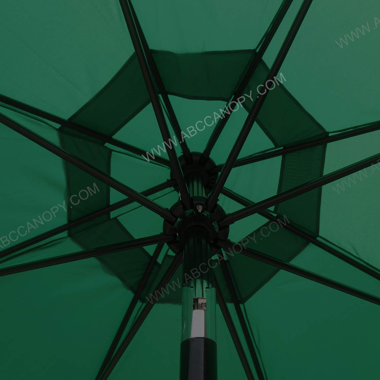 Cover Only Burgundy ABCCANOPY Parasol Garden Patio Umbrella Replacement Sunshade Market Umbrella Canopy for 2.7M 8 Ribs