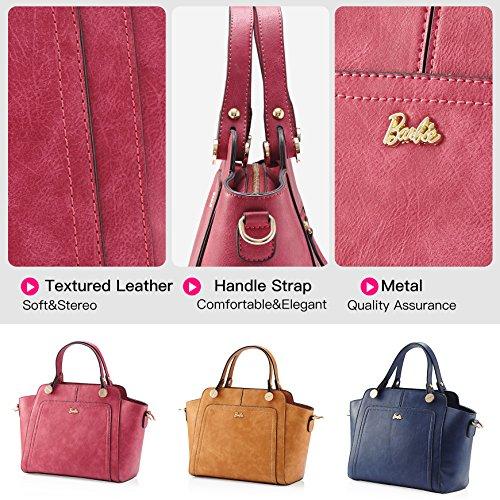 Main la Sac pour Moderne Cuir Fashion à Filles Cool en Mode Femmes à de Rouge BBFB170 Elégant série Epaule de Barbie Porté Pure Couleur Bandoulière PU Shopping 0Exwq0df
