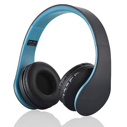 c0c9b7e5c81 Amazon.com: Wireless Digital Stereo Bluetooth Headset Card MP3 player  Earphone FM Radio Music,Blue,China: Computers & Accessories