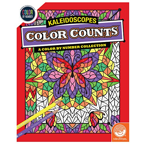 MindWare Color by Number Color Counts (Kaleidoscopes)