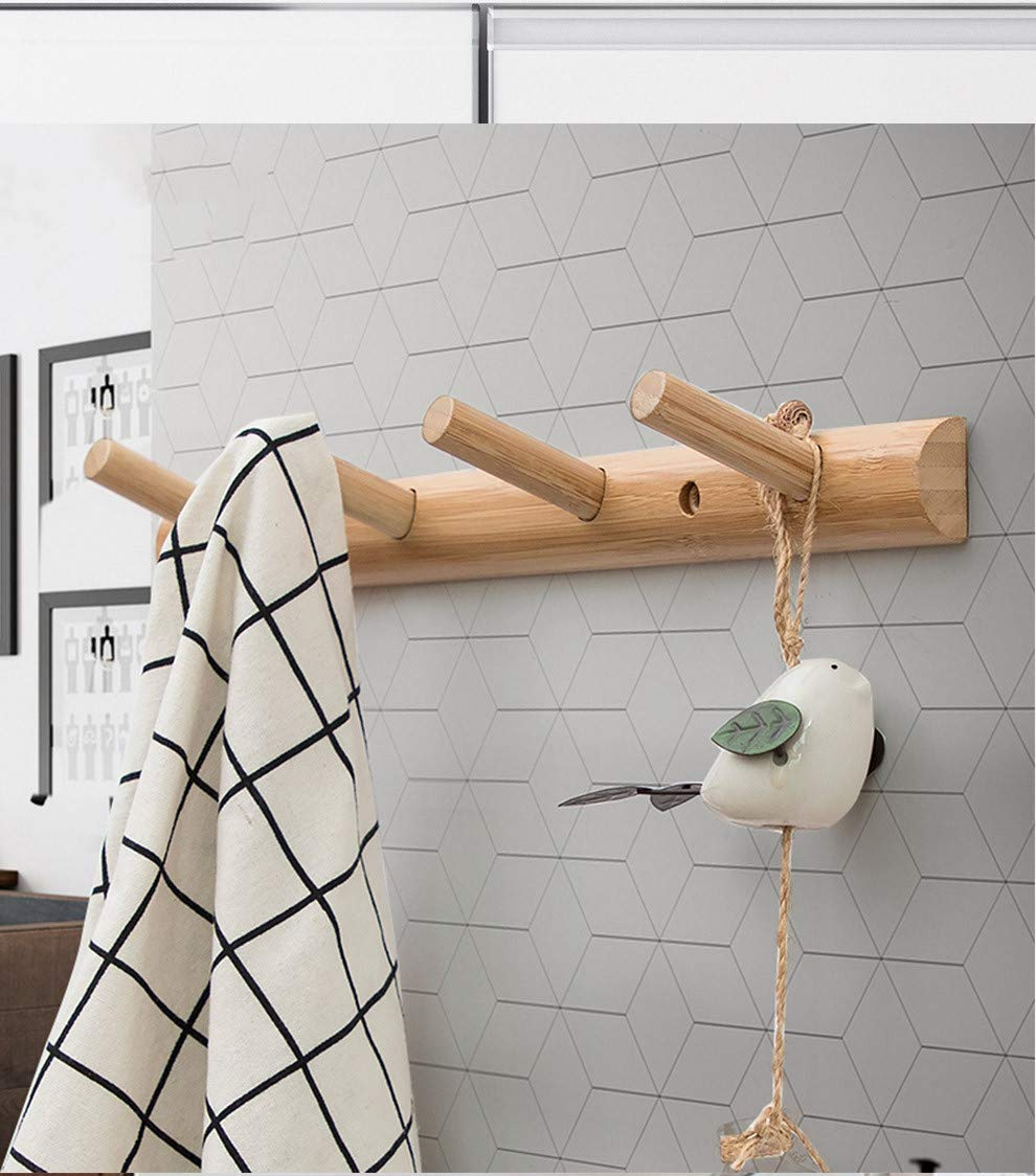 Amazon.com: Homode - Toallero de bambú moderno de madera ...