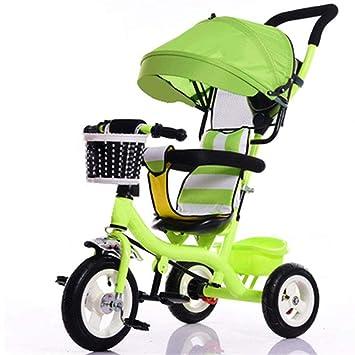 Niños De Interior Y Al Aire Libre Pequeño Triciclo Plástico Sólido Rueda Bicicleta 7 Meses-