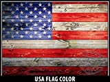 USA Tuff Thickest & Toughest Wrap 24Mil Decal fits New or Old Style RTIC 65QT Cooler Lid Kit - USA Flag Wood Color