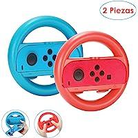 Nasjac Volante para Nintendo Switch– Volante Rojo y Azul Compatible con los controles Joy-con en el Nintendo Switch