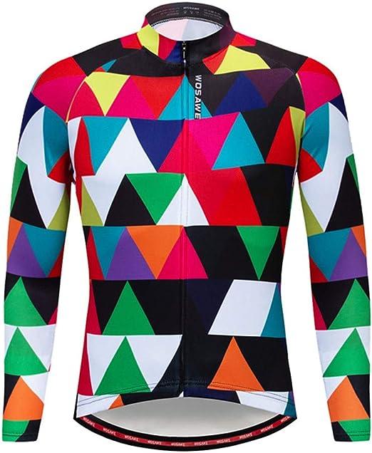 DRFFF Colorido Bicicleta de montaña Jersey Camisa de Manga Larga Traje de Bicicleta Adecuado para la Primavera y el otoño Festival Evacuación de la Humedad Buena ventilación,M: Amazon.es: Hogar