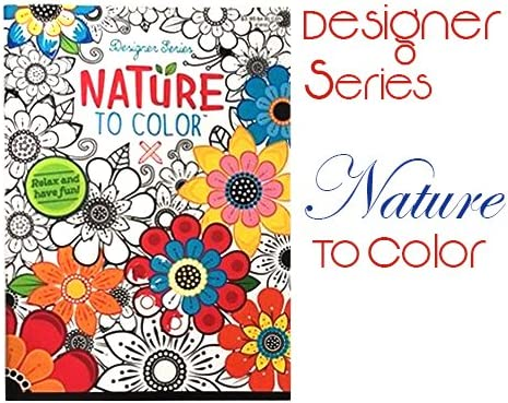 Amazon.com: Nature To Color Adult Coloring Book Featuring Mandala ...
