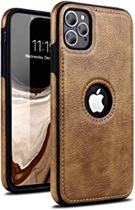 NN Compatible for iPhone 11 Pro Max Leather case Luxury and Elegant Looks for Your iPhone (Brown)