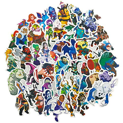50pcs Dota Game Cartoon Laptop Stickers Waterproof Skateboard Pad MacBook Car Snowboard Bicycle Luggage Decal