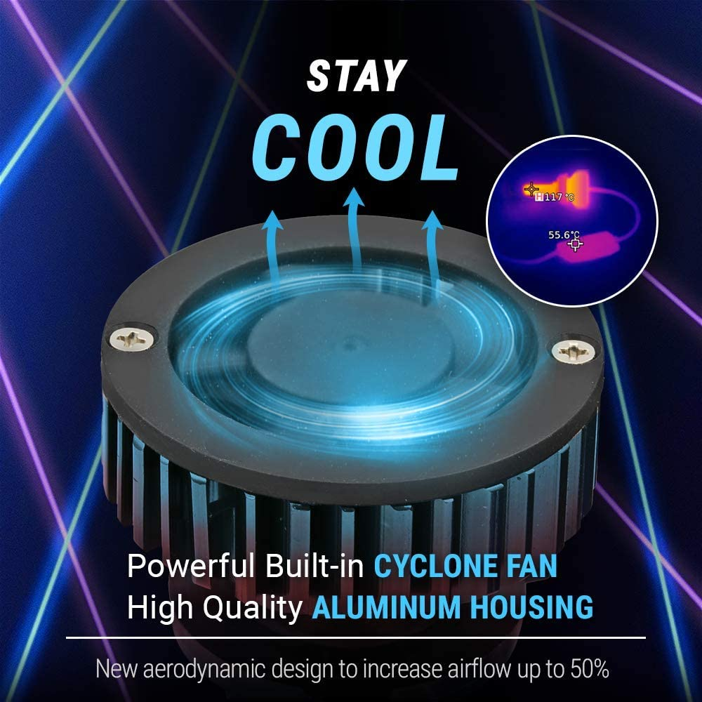 Syneticusa 9005+H11 Combo LED High//Low Beam LED Headlight Conversion Kit DRL Light Bulbs 120W CSP 6000K White