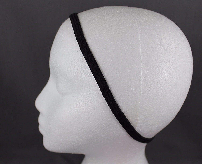 "Black Red Blue set pack 6 stretch elastic sport headband no metal 3//8/"" hair band"