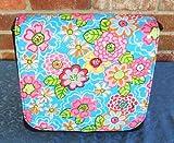 Glitter Flowers Collection Messenger Bag