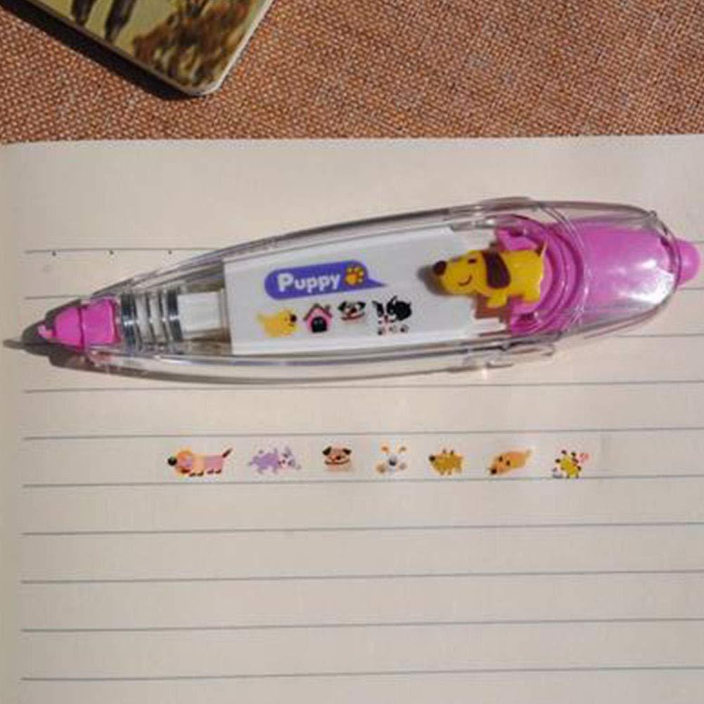 Jaune Yisily Papeterie cr/éative mignon de chien Cartoon Motif dimpression Correction Tape Notebook Journal Album Dentelles D/écoration Ruban