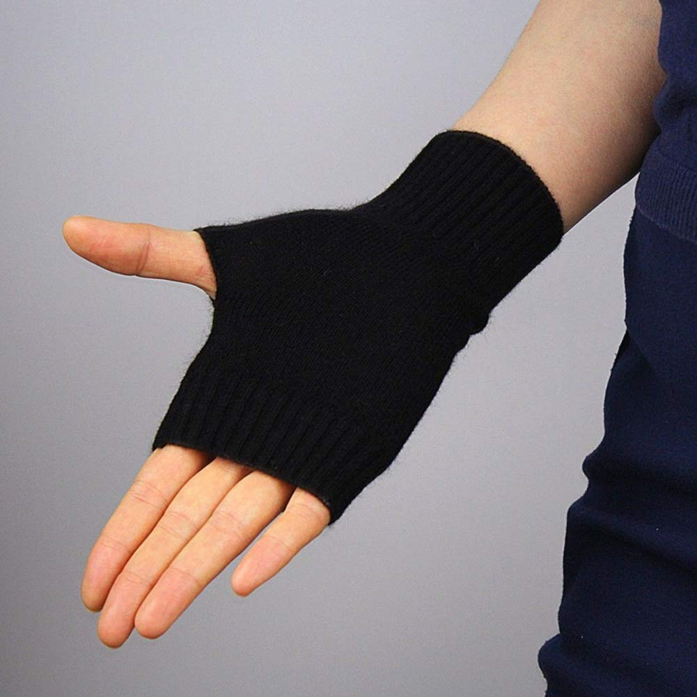 Amazon.com: Knit - Guantes de invierno sin dedos de ...