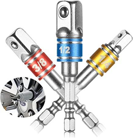 1//4 5//16 3//8-1//2 Drill Bit Socket magnétique Nut Driver Set Tige Hex Adaptateur