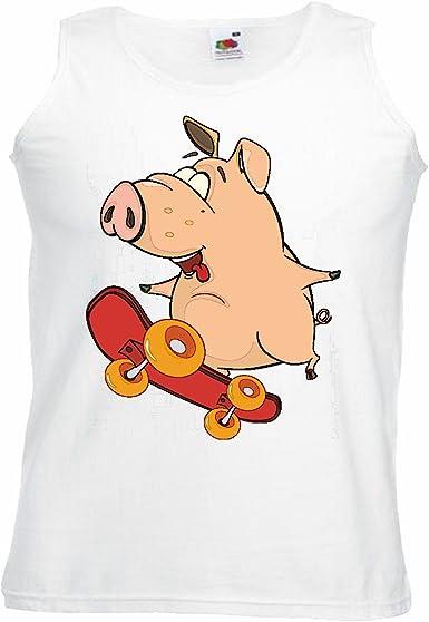 Camisa del músculo Tank Top Cerdo EN Patines Cerdo doméstico ...
