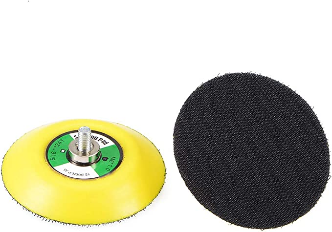2Pcs 3 Hook and Loop Backing Pads for Orbital Sander M6 Threads Polishing Buffing Plate for Dual Action Car Polisher