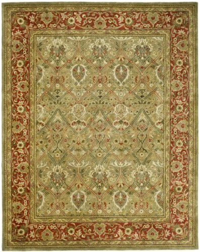 Safavieh Persian Legend Collection PL819B Handmade Traditional Light Green and Rust Wool Area Rug (2' x 3')