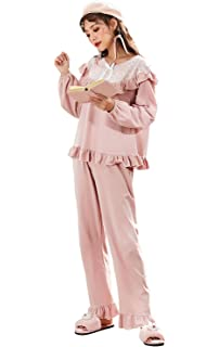 846bba70e80fc0 パジャマ レディース 綿100% ルームウエア 可愛い 無地 純色 長袖 上下 セット 部屋着 秋春
