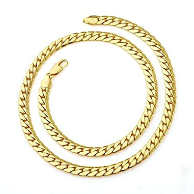 men classics satisfied mens gold necklace link chain plated item curb filled cuban real not solid days gf chains