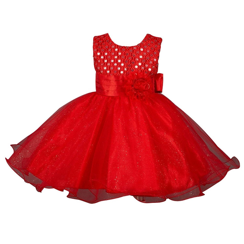 ZAMME Filles Multi-Couches Gauze fleur Girl Dress