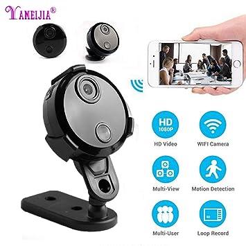 Mini Wifi cámara IP HD 1080p infrarrojos noche visión micro red videocámara 150 ° gran angular