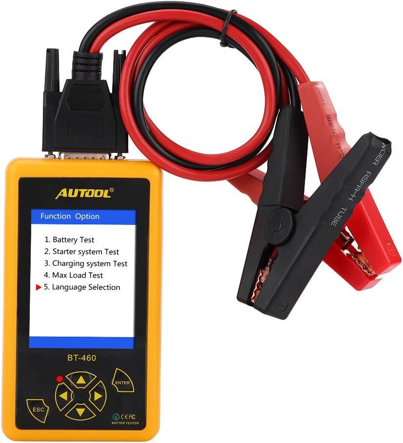 Appareil de contr/ôle de batterie de voiture de 4 pouces analyseur color/é dappareil de contr/ôle de batterie de voiture daffichage de TFT pour les camions r/ésistants du v/éhicule 24V de 12V
