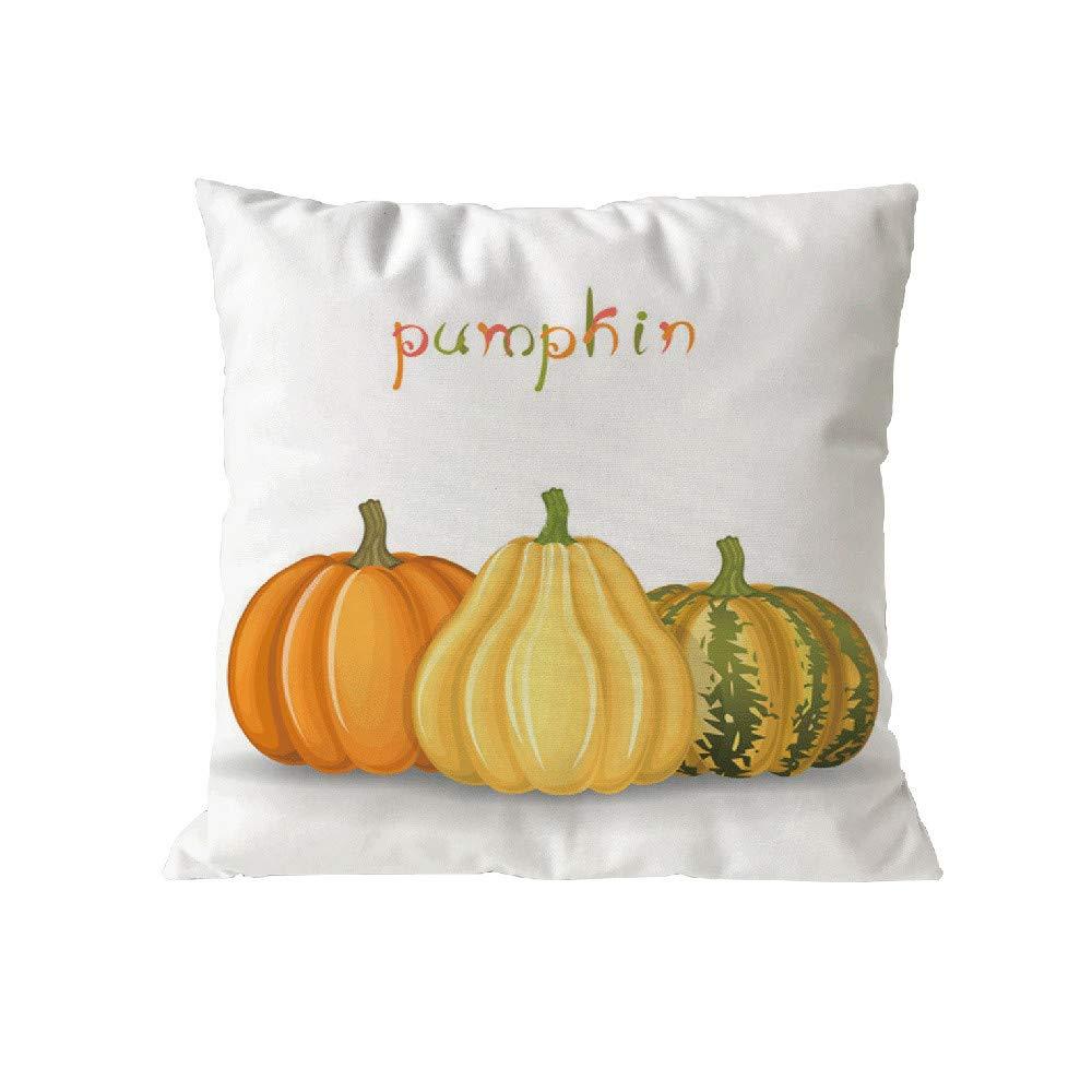 Pgojuni Happy Halloween Pillow Case Polyester Throw Pillow Cover Cushion Cover Pillow Case Home Decor 1pc (45cm X 45cm) (I)