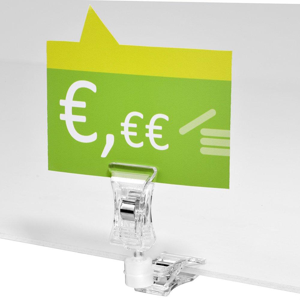 10 St/ück Doppelklammer//Preisschildhalter//Schildhalter//Klemme