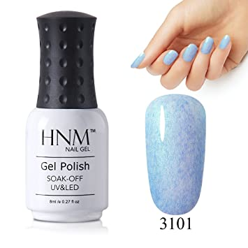 Amazon Hnm Uv Led Gel Nail Polish Seashell Faux Fur Soak Off