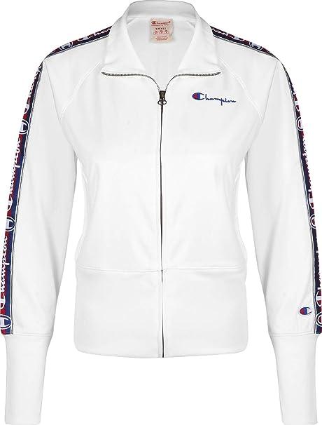 cahmpion Reverse Weave Chaqueta Blanca m Mujer: Amazon.es ...