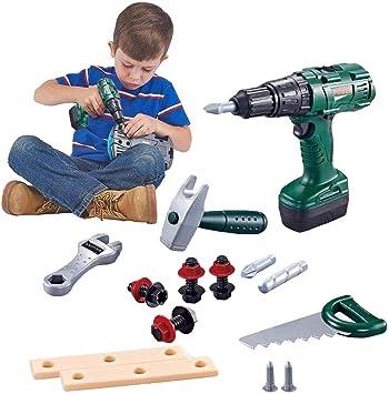 Juguete eléctrico Caja de herramientas para niños Juego de ...